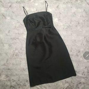 J. Crew Black Sleeveless Silk Dress